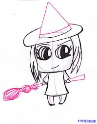 howto draw a chibi witch step by step chibis draw chibi anime