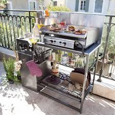cuisine exterieure castorama cuisine d extérieur en inox futuna castorama idées jardin