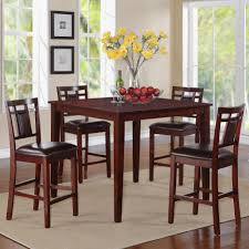 dining room enticing brown rectangular wooden dining table with 4