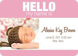 birth announcements baby name tag version 2 at minted com