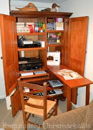 diy craft armoire with fold out table my dream craft space craft and thrift