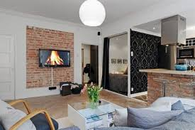 interior design brick wall ideas amazing bedroom living room