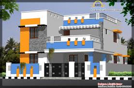 2 floor front elevation with modern house view single gallery