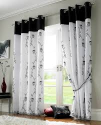 Cheap Black Curtains Living Rooms With Black And White Curtains Integralbook Com