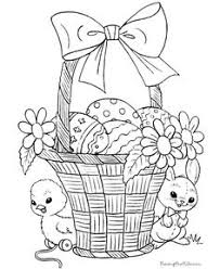 easter bunny and basket coloring pages u2013 happy easter 2017