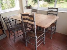 vintage dining table and chairs in annie sloan paris grey in