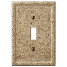 travertine light switch plates tumbled travertine textured stone noce resin switch plate outlet