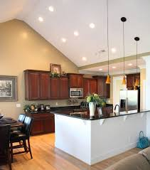Lighting For Sloped Ceilings Sloped Ceiling Kitchen Lighting Vaulted Ceiling Living Room Design
