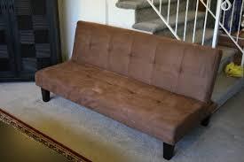 Klik Klak Sofa Bed Chocolate Brown Microfiber With Adjustable Back Klik Klak Sofa