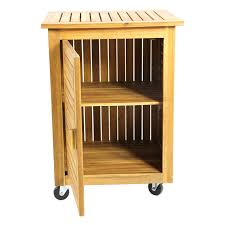 furniture narrow wood serving cart with cabinet on wheels for
