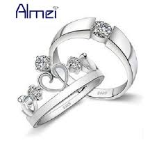 montreal wedding bands almei montreal canadiens pair ring silver color crown men