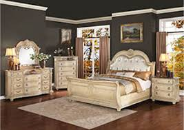 White Leather Sleigh Bed Bedrooms Wow Furniture Dallas Tx