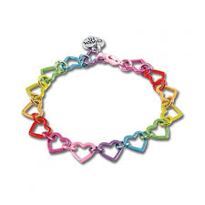 heart link charm bracelet images Charm it rainbow heart link charm bracelet jpeg