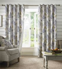 Chezmoi Collection Curtains by Falling Leaves Stripe Blue Green Lined Ring Top Curtains 9 Sizes