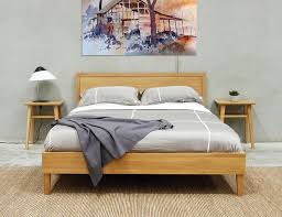 Copenhagen Queen Size Solid European Oak Bed Frame By Bent Design - Elegant non toxic bedroom furniture residence