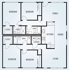 square floor plans 4 bedroom apartments plans bedroom apartment floor plans image