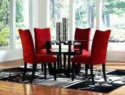 cheap red dining table and chairs red dining chair room sets cheap round glass table and chairs for