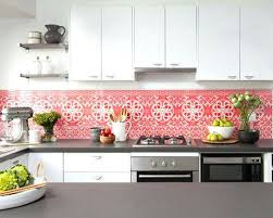 kitchen backsplash with paintable wallpaper over vinyl