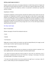 copywriter cover letter sample defining unpaid wages examples in california