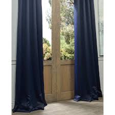Navy Curtain Exclusive Fabrics Navy Grommet Blue Thermal Blackout Curtain Panel