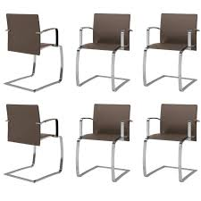 Set Of Six Italian Dining Room Chairs Modern Design New Made In - Italian design chairs
