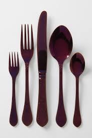 purple flatware from anthropologie decoist home pinterest