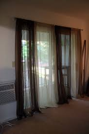 Whole Wall Sliding Glass Doors Traditional Sliding Curtain Panel Which Equipped With Black