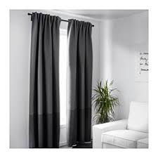 Black And White Blackout Curtains Marjun Blackout Curtains 1 Pair Ikea