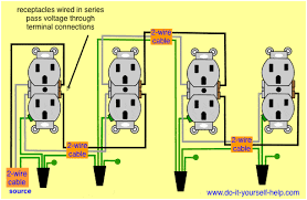wiring diagram receptacles in series 3 way wire pinterest
