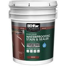 behr premium 5 gal deep tint base solid color waterproofing stain