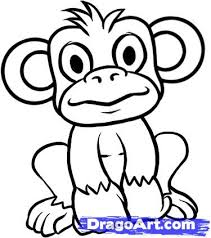 extraordinary a drawing of monkey template 4 coloring pages a