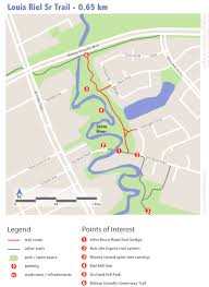 Spirit Route Map by Louis Riel Sr Route Winnipeg Trails Associationwinnipeg Trails