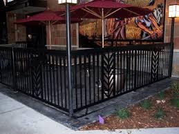Restaurant Fencing by Commercial Railing Decorative Art Deco Glass Handicap Fdot