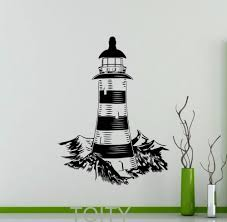 lighthouse wall stickers nautical sea ocean beach vinyl decal home