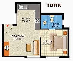 1 Bhk Floor Plan | elegant 1bhk apartment floorplan design