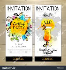 cocktail party poster invitation design stock vector 519220522
