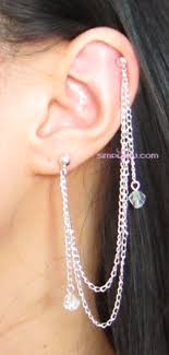 earring that connects to cartilage chain cartilage earrings that connect earrings