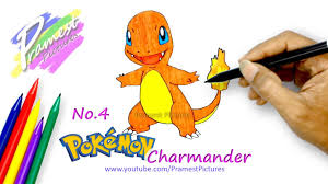 how to draw charmander pokemon coloring pages for kids youtube