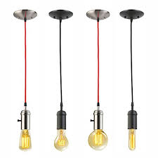 Edison Pendant Light Fixture Globe Electric 64906 1 Light Vintage Edison Hanging Socket Pendant
