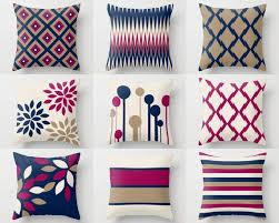 Home Decor Cushions Throw Pillows Covers Navy Fuchsia Taupe Beige Geometric Home Decor