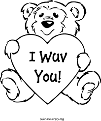 valentine day printable coloring pages simple heart happy within