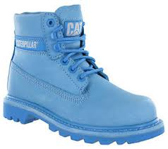 womens caterpillar boots uk caterpillar colorado light blue leather ankle boots lace up womens