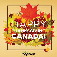 happy thanksgiving canada isagenix news isafyi
