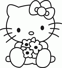 kitty coloring wecoloringpage pictures hell cartoons