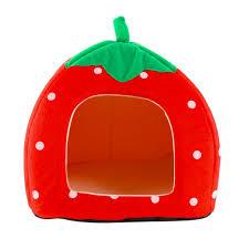 Igloo Dog House Tractor Supply Aliexpress Com Buy Dog House Foldable Soft Warm Strawberry Cave