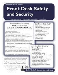 Security Front Desk Front Desk Safety U0026 Security U2014 Code 4 Public Safety Education