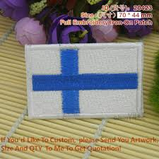 Customized Flag 20423 Finland Flag Full Embroidery Iron On Patches