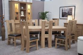 solid oak table with 6 chairs homestyle trendy lifestyle solid oak 1 8 x 1m chunky dining table