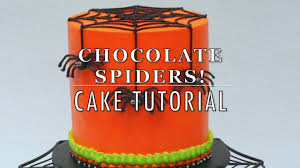 halloween fondant cakes chocolate spider cake for halloween youtube