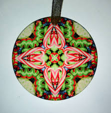 candy cane glass suncatcher christmas ornament kaleidoscope